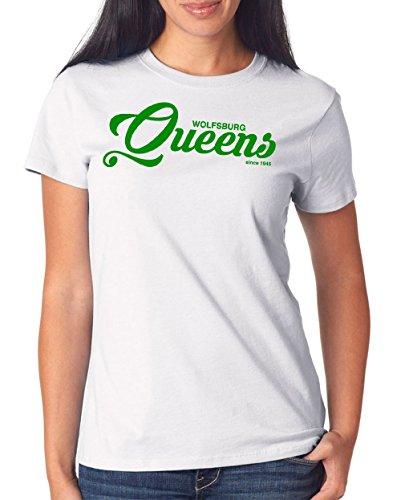 Wolfsburg Queens T-Shirt Girls White Certified Freak