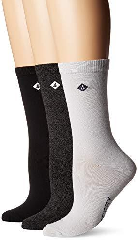 en's 3 Pack Crew Socks, White Marl Assorted, Shoe 4-10/Sock Size 9-11 ()