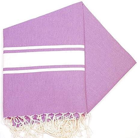 Maldivas violeta – 100% algodón zusenzomer – toalla, 100 cm x 200 cm,