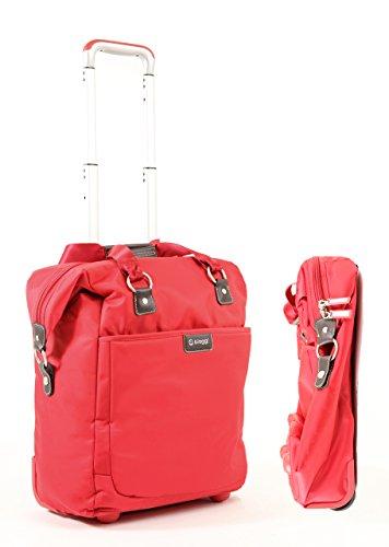 Biaggi Contempo Foldable 18'' 2 Wheel Fashion Tote Red by biaggi