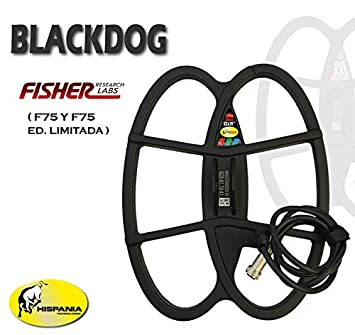 Hispania Technologies Plato Black Dog para Detector de Metales Fisher F70, F75 y F75 Ltd.: Amazon.es: Jardín