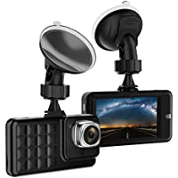VKAKA Dash Cam for Cars with Full HD 1080P 170 Degree Super Wide Angle Cameras