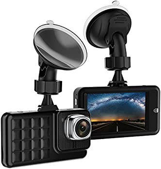 VKAKA Dash Cam for Cars w/1080P 170 Degree Wide Angle Cameras