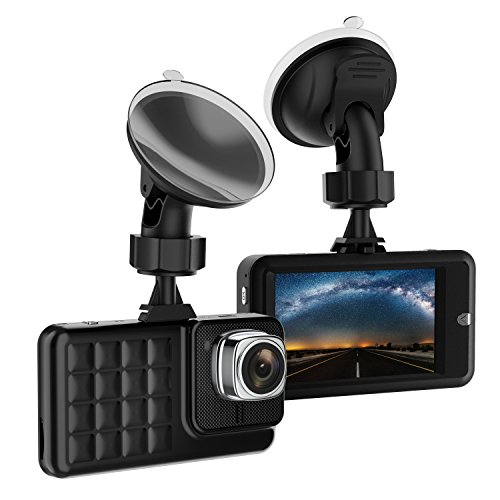 Dash Cam  Camera For Cars With Full Hd 1080P 170 Degree Super Wide Angle Cameras  3 0  Tft Display  Wdr  G Sensor  Loop Recording