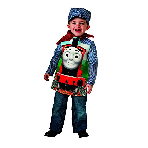Toddler Thomas The Train Costumes (Rubies Thomas and Friends: Deluxe James The Red Engine and Engineer Costume, Toddler)