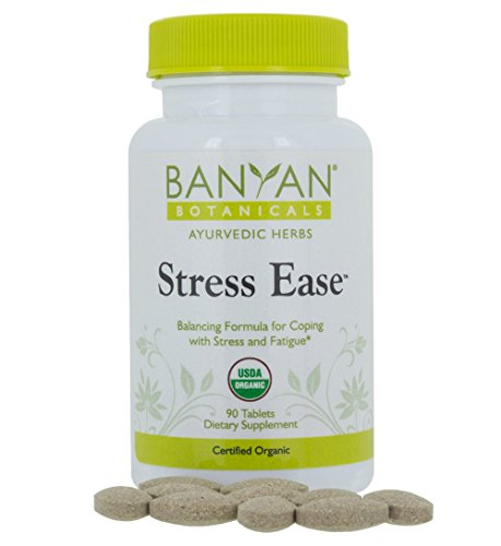 Ease Supplement - Banyan Botanicals Stress Ease - USDA Organic - 90 tablets - Herbal Formula for Adrenal & Mood Support, Relief for Worry, Fatigue & Restlessness*