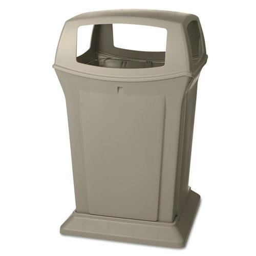 (RUBBERMAID COMMERCIAL PROD 917388BEI Ranger Fire-Safe Container, Square, Structural Foam, 45 gal, Beige)