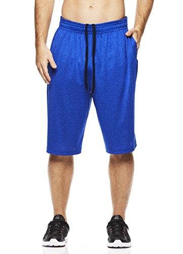 Above The Rim Men's Basketball Short Basic Athletic Workout Gym Shorts - Tournament - Royal Heather, Large
