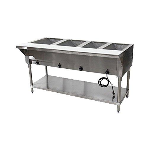 Advance Tabco HF-4E-240 208-240V Electric Hot Food Table ()