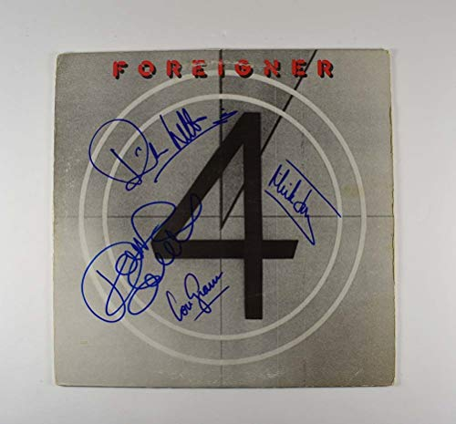 Foreigner '4' Band Signed Record Album LP Certified Authentic JSA COA