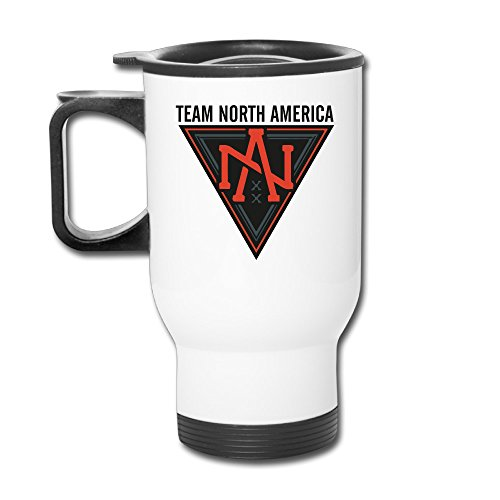 - TRAVE Team North America World Cup Of Hockey White Coffee Or Tea Cup Travel Mug