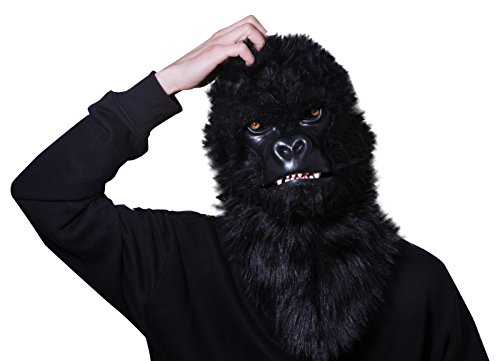 [Thumbs Up Boys Mr Gorilla Moving Mouth Mask] (Funny Gorilla Costume)