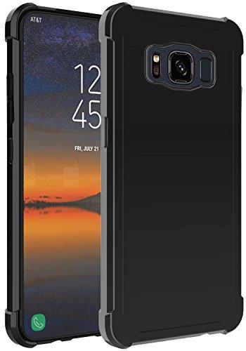 Galaxy S8 Active Case, OUBA Anti-Scratches Slim Flexible TPU Gel Premium Soft Bumper Rubber Protective Case Cover for Samsung Galaxy S8 Active - Black