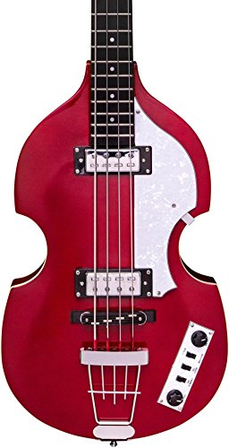 Guitar Metallic Electric Red Bass - Hofner Ignition LTD Violin Electric Bass Guitar Metallic Red