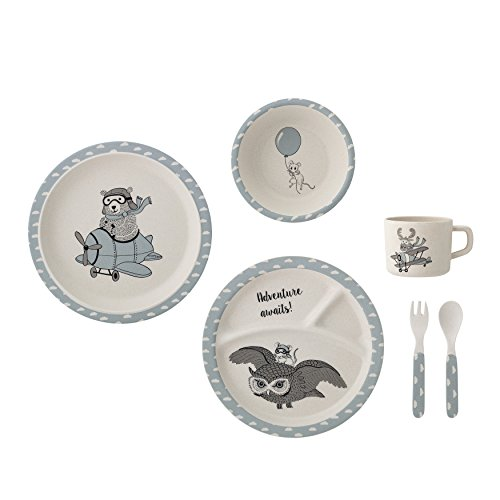 Bloomingville A47409337 Charles Dinnerware Gift Set, Blue Review