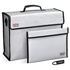 TEROMAS FIREPROOF DOCUMENT BAGA MUST HAVE AT HOME - USE IN SAFES OR SAFETY DEPOSIT BOXES, gives your important documents, cash, jewelry and other valuables a second layer of protection in the event of a fire.DOUBLE LAYER FIREPROOF MATERIAL ▪ ...