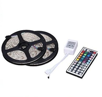 Soled Two Rolls 32.8Ft 600LED 5050 SMD Waterproof Flexible Multicolor RGB LED (Car Light Dimmer)