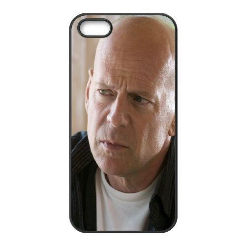 Bruce Willis Actor Hollywood Man Pensive Celebrity Bald coque iPhone 4 4S cellulaire cas coque de téléphone cas téléphone cellulaire noir couvercle EEEXLKNBC23864