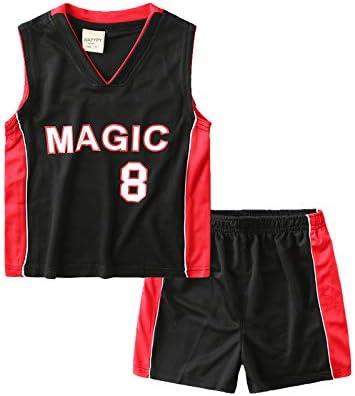 PANGOIE Niño Ropa de Baloncesto NBA Magic No. 8 Retro Pantalones ...