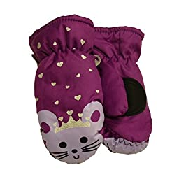 Aquarius Toddler Girls Purple Mouse Princess Thinsulate Ski & Snow Mittens