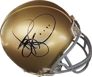 Jerome Bettis signed Notre Dame Fighting Irish Riddell Mini Helmet- Hologram #L45804 - JSA Certified