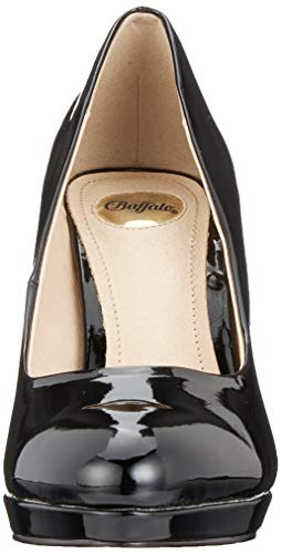black H748 Buffalo 000 Para 1 Zapatos Tacón 01 De Negro Mujer New TxwwUdqnz