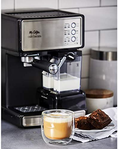 Mr. Coffee Espresso and Cappuccino Maker | Café Barista , Silver 418 4wkFWtL
