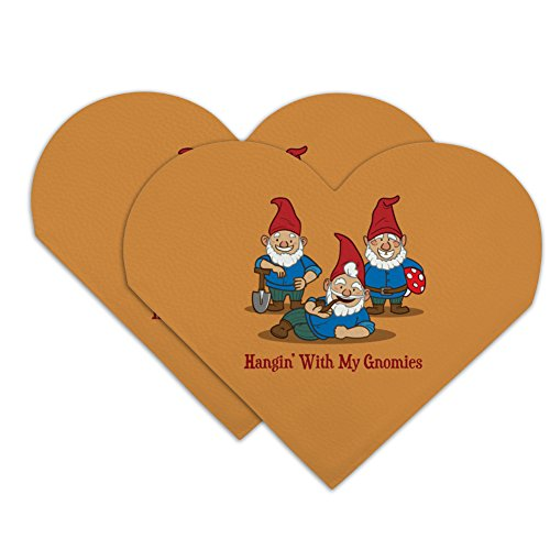 Hanging With My Gnomies Gnomes Heart Faux Leather Bookmark - Set of 2 ()