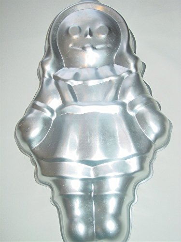 Wilton Storybook Girl Boy Doll Dolly Rag Raggedy Ann Andy Bride Groom Cake Pan (502-968, 1971) -