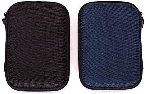 Ginsco 2-Pack (negro y azul) Estuche de transporte duro para disco duro externo portátil Toshiba Canvio Basics Seagate Expansion WD Elements: Amazon.es: Electrónica