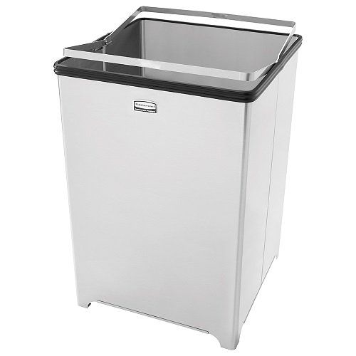 Pl 16 Plastic Liners - Rubbermaid Commercial FGB1414SSRB WasteMaster Steel 10.5-gallon Open Top Indoor Utility Can