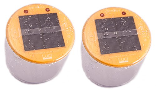 Terra Friendly Floating Solar LED Pool Party Lights ~ Multipurpose, Waterproof, Inflatable Lantern with Battery Level Indicator. (2)