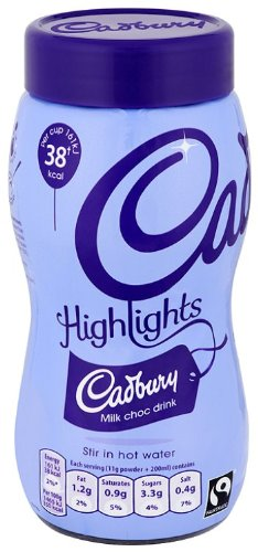 Cadbury Highlights Milk Hot Chocolate Jar 220 g (Pack of 3)