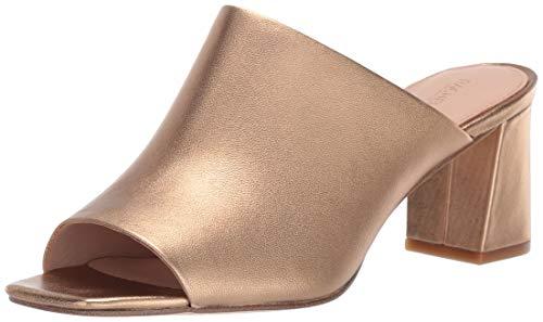 Rachel Zoe Women's Mila Peep Toe Mule, Gold Sand, 8 M -