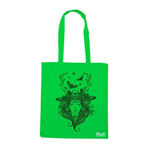 Borsa BUTTERFLY WOMAN FANTASY - Verde prato - DIVERTENTE by Mush Dress Your Style