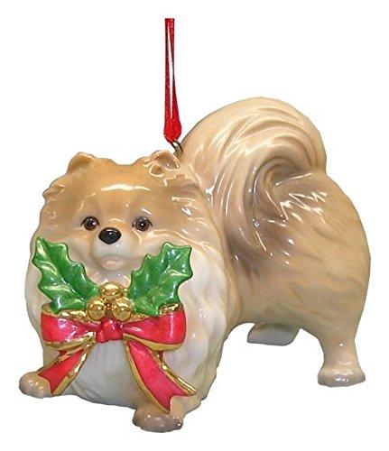 StealStreet SS-D-X024 Cute Christmas Holiday Pomeranian Dog Ornament Statue Figurine