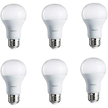 Philips LED Bulb 6 Pack 100 Watt Equivalent, Soft White (2700K) A19 Non Dimmable, Medium Screw Base