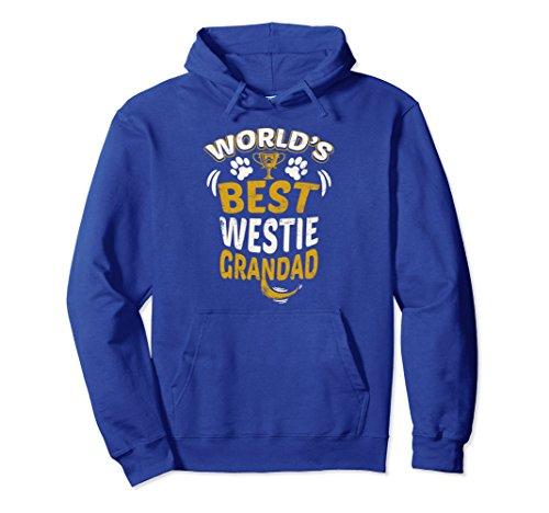 (Unisex World's Best Westie Grandad Graphic Hoodie Large Royal Blue)