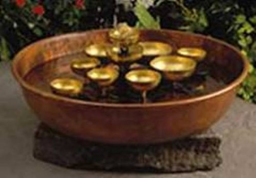 Amazon.com : Woodstock Copper Water Bell Fountain  Encore Collection :  Woodstock Chime Fountain : Patio, Lawn U0026 Garden