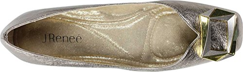 J.Renee Women's Tustin Ballet Flat Taupe/Gold find great sale online bnR7BWI