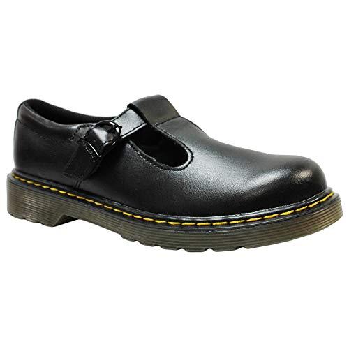 Lamper Polley Size Buckle 11 T black 11 Leather Martens Black Dr Shoe Junior EZAInq