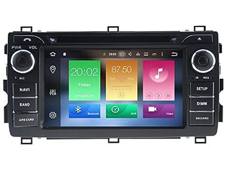 Ocho Core 1024 * 600 HD pantalla Android 6.0 coche DVD GPS navegación para Toyota Auris, Corolla Hatchback 2013 - 2016 con 3 G/WIFI DVR: Amazon.es: ...