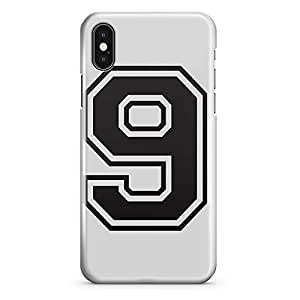 iPhone X Case Number 9 Sports Team Player Light Weight Tough Wrap Around iPhone 10 Case