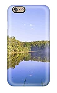 Durable Case For The Iphone 6- Eco-friendly Retail Packaging(forest Lake Mist Reflection Amp Digital)