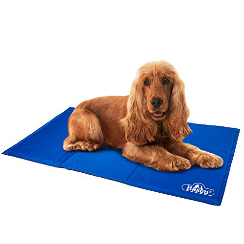 pet cooling mat, soft comfortable pet chilly gel mat, folding self cooling pet bed for keeping dogs cool in summer (l: 35 x 19 inch)