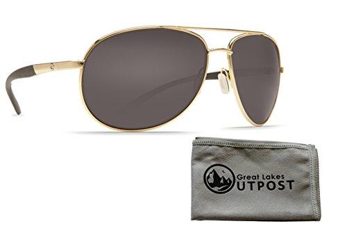 Costa del Mar Wingman Gray 580P Gold Frame Sunglasses w/ - Costa Wingman Mar Del