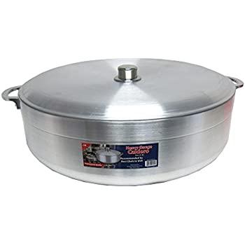Uniware Heave Duty Aluminum Calderon / Pot with Aluminum Lid Cover, Silver (29.6 Qt)