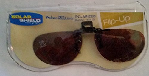 56 Oval Solar Shield Polarized Flip-up Driving - Chart Clip Size On Sunglasses