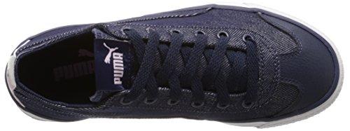 PUMA 917 Fun Denim Kids Sneaker (Little Kid/Big Kid), Peacoat/Lilac Snow/Patent/Lavender, 5.5 M US Big Kid by PUMA (Image #8)