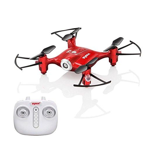 Liebeye 無人偵察機のおもちゃ SYMA X21 ミニ遠隔操作quadcopter電気セット子供用のおもちゃ 高さ レッド